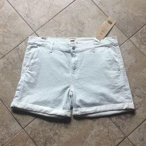 NEW Levi's size 31 12 stretch jean shorts striped